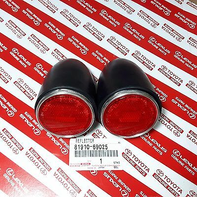 New GENUINE Toyota Land Cruiser 40 Series FJ40 Rear Body Reflector Set of 2 PCS