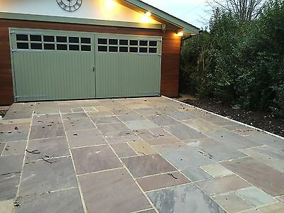 Indian Sandstone Paving - Natural Stone Patio Flags - Garden Slabs 15.30m2 Pack