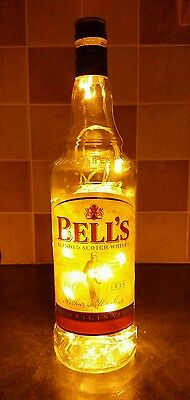 Upcycled Bells bottle lamp