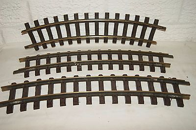 G scale 45mm GOOD USED 3x LGB 1500 Radius 2 Curve 45cm FOR GARDEN RAILWAY