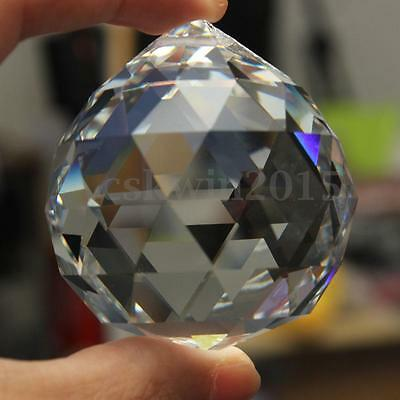 50mm Clear Crystal Glass Ball Lamp Prisms Part Decoration Pendant Bead FENG SHUI