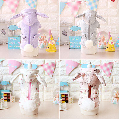 Cute Rabbit Dog Puppy Pet Clothes Warm Coat Outfit Hoodie Chihuahua Dogs Apparel
