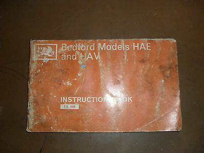 Bedford HAE & HAV instruction book
