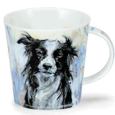 Dunoon Mug Fine Bone China Cairngorm - Dogs on Canvas - Collie - BRAND NEW