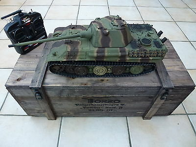 Torro 1/16 RC German Panther F BB Tank Camo 2.4GHz Metal Edition 360 Wooden Box