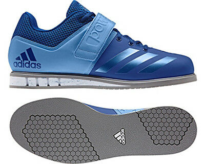 adidas Powerlift 3.0 Mens Weight Lifting Shoes - Blue - Free P&P