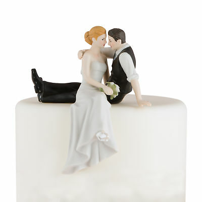 Porcelain Wedding Cake Topper The Look of Love Bride and Groom