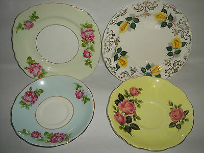 Lot of Side Plates / Saucers English Bone China QUEEN ANNE COLCLOUGH and ROSLYN