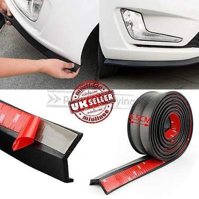 "Universal 100"" Car Lip Skirt Rubber Protector Front Bumper Spoiler Side Splitter"