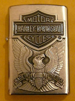 Automotive Harley Davidson Made In The U.s.a Zippo Lighter Free P&p Free Flints