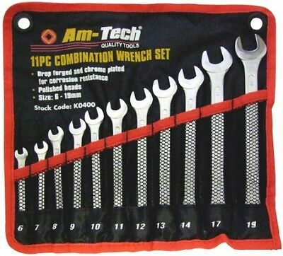 Combination Spanner Set Garage Auto Craftsman Repair Fix Hand Tool Kit 11 Pieces