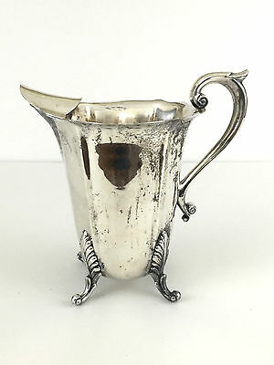 H.S. silver plated water pitcher Silver on Copper #1514
