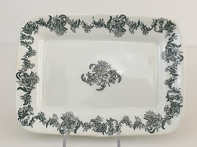 Antique small vitrified porcelain serving platter, Greenwood China 1900's 1910's