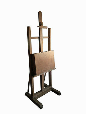 Vintage Mid Century Artists' Easel and 'The Casterbridge' paint Box Display