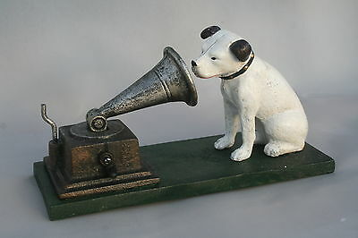 Man Cave HMV His Master's Voice Dog and Gramaphone Model Cast Vintage Style