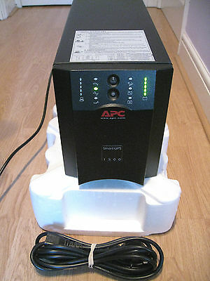 APC SMART-UPS SUA 1500 VA SUA1500i TOWER UPS WITH NEW APC RBC7 BATTERY & CABLES
