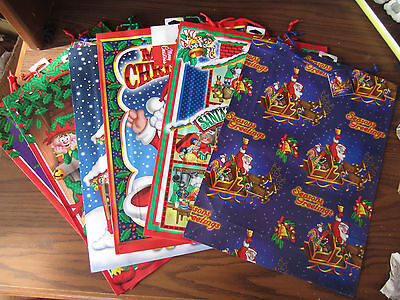 Christmas Wholesale LOT Of 10 assorted LARGE GIFT BAGS W/ Name Tags 6 Different