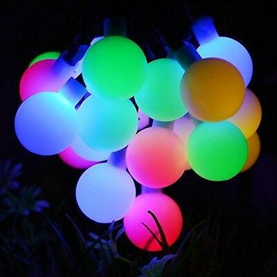 Solar Outdoor String Party Fairy Led 22ft Tree Garden Lamp Light 50LED RGB