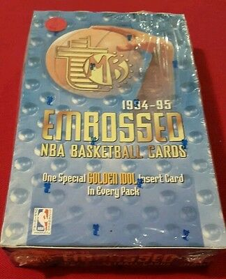 BOX topps embossed 94-95 basketball # 24 paquets de 6 cartes
