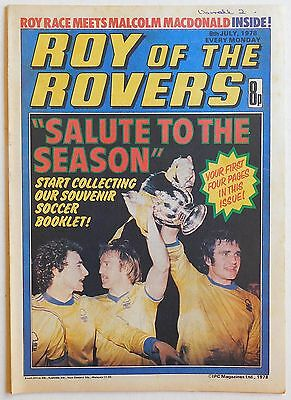 ROY OF THE ROVERS Comic - 8th July 1978