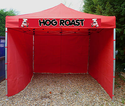 RED Printed Catering Trailer Gazebo Waterproof Aluminium 40mm Leg Catering Tent