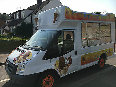 Ice Cream Van Ford Transit Catering Van MOT 2009 reg plate, Great Condition
