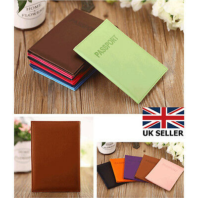 Passport Cover Holder Case ID Card Travel Faux Leather Protector Organiser Gift