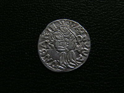 Madonna with Baby Jesus, medieval hammered silver coin No.:78