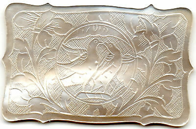 Beautifully Carved Mother Of Pearl Gaming Token
