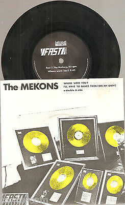 "The Mekons-Where Were You-UK Vinyl Fast Product 7""- 1978"