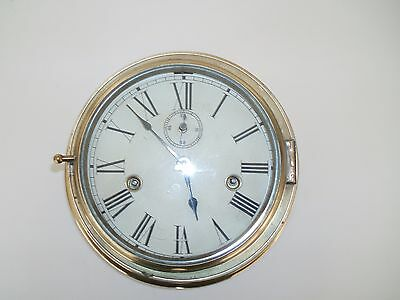 Antique Brass Ships Clock By John Lilley And Sons C1906