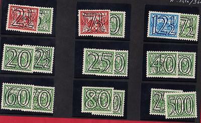 PAYS BAS N°:347A/364- complete series-  NEW**  - beautiful stamp  catalog : 195€