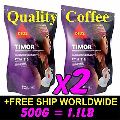 500g 1.1lb Portuguese Ground Coffee 2x 250g Bags 8.8oz of TIMOR Café de Portugal