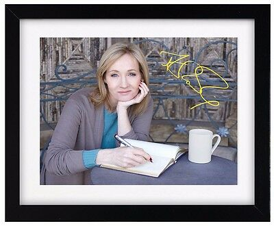 JK ROWLING Signature Print - Signed - Fully Framed - Harry Potter Wall Decor