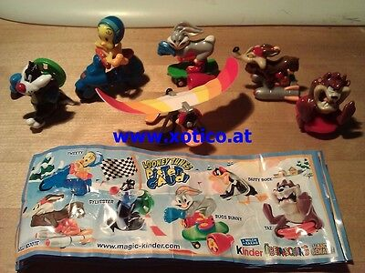Looney Tunes Pisten Gaudi, Germany, Ferrero, Kinder, compl. set with all Bpz