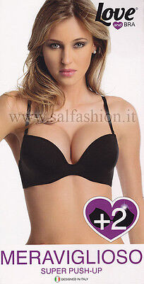 Reggiseno Love and Bra super push-up MERAVIGLIOSO con ferretto e doppia coppa