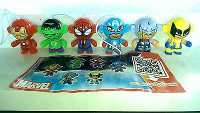 Marvel Twistheads, Portugal, Ferrero, Kinder, compl. set with all Bpz