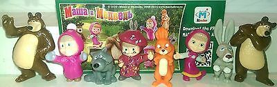 Masha and the bear 2, Ukraine, Ferrero, Kinder, compl. set with all Bpz