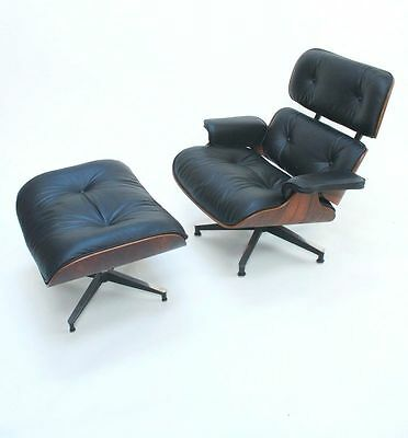 Vintage Late 1950's Herman Miller Eames Lounge Chair & Ottoman Rosewood 670 671