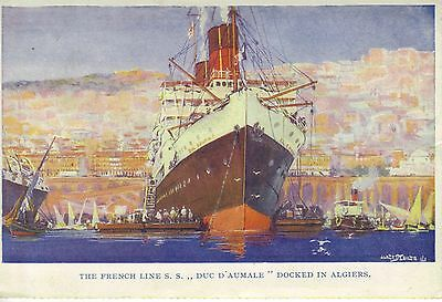 Collectable, French Lines S.S. duc D'Aumale