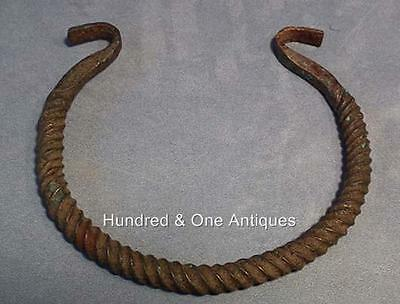 Ancient Celtic Large Bronze Torc  Torque 3rd 1st century B.C. for sword Armour