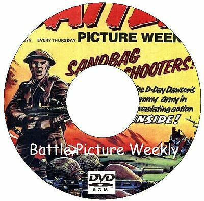 Battle Picture Weekly Over 500 Issues on 2 DVDs Battle Action