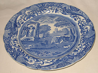 Antique Pottery : Victorian blue and white Spode Italian Tea Plate - 7.5 inches