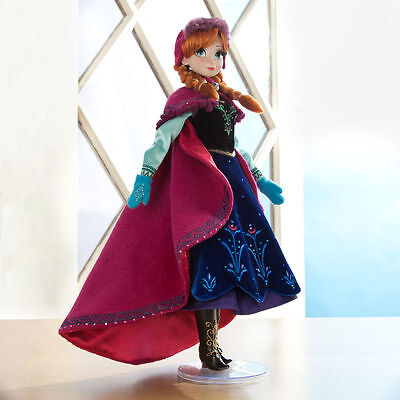 "New Disney Store Limited Edition Frozen Anna Doll 17"" Fast Delivery"
