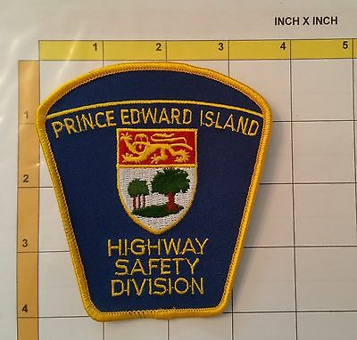 Canada Prince Edward Island Police Safety Highway Division Obsolete Patch