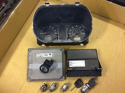 Ford Fiesta Mk6 (02-05) 1.6 Petrol Full Ecu & Lock Set, 2 X Keys 2S6A-12A650-Th