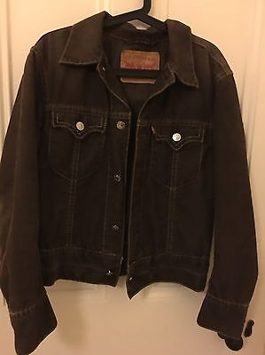 Levis Cord Corduroy Jacket Brown Medium Vintage