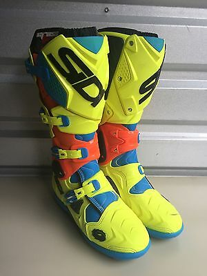 Sidi Crossfire 2 SRS Size US 8.5 TC222 Limited Edition Motocross Boots EUR 42