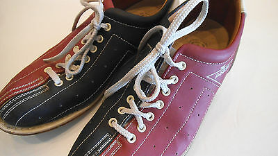 Men's Vintage Red and Black White Leather AMF Bowling Shoes Size 10 1/2 / 12