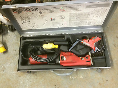 RIDGID 550-1 110V reciprocating pipe saw VGC (£60 vat INC IN PRICE) FREEPOST!